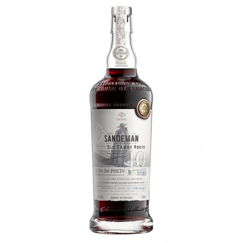 Sandeman Tawny 40 Years Old Port Wine (500ml)